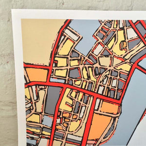 Boston Chinatown - Abstract City Map Art by Carland Cartography