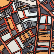 Load image into Gallery viewer, Porter Square, Cambridge MA - Abstract City Map Art by Carland Cartography