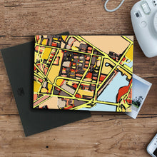 "Load image into Gallery viewer, East Cambridge MA. 11x14"" Canvas Print - Carland Cartography"