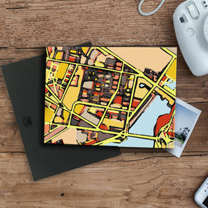 "East Cambridge MA. 11x14"" Canvas Print - Carland Cartography"