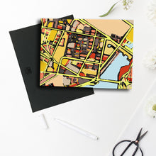 "Load image into Gallery viewer, East Cambridge MA. 11x14"" Canvas Print - Abstract City Map Art by Carland Cartography"