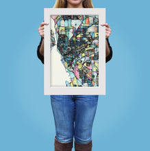 "Load image into Gallery viewer, Buffalo NY.  20x24"" Matted Print - Abstract City Map Art by Carland Cartography"