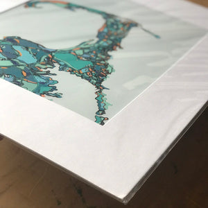"Cape Cod, MA.  16x20"" Matted Print - Abstract City Map Art by Carland Cartography"