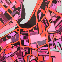 "Load image into Gallery viewer, Salem MA. 20x24"" Matted Print - Abstract City Map Art by Carland Cartography"
