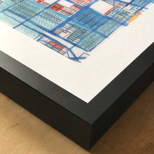 "Load image into Gallery viewer, Rogers Park, Chicago IL. Framed 8x10"" Print - Abstract City Map Art by Carland Cartography"