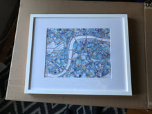 "Load image into Gallery viewer, London, UK. Original FRAMED 16x20"" Drawing - Abstract City Map Art by Carland Cartography"