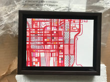 "Load image into Gallery viewer, Chicago Loop, Chicago IL. 5x7"" Framed Canvas Print - Abstract City Map Art by Carland Cartography"