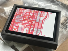 "Load image into Gallery viewer, Chicago Loop, Chicago IL. 5x7"" Framed Canvas Print - Carland Cartography"