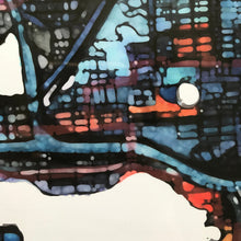 "Load image into Gallery viewer, Seattle WA. 20x24"" Matted Print - Abstract City Map Art by Carland Cartography"