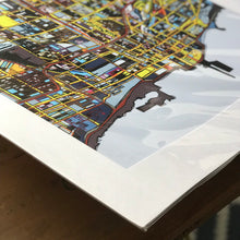 "Load image into Gallery viewer, Chicago IL. 20x24"" Matted Print - Abstract City Map Art by Carland Cartography"