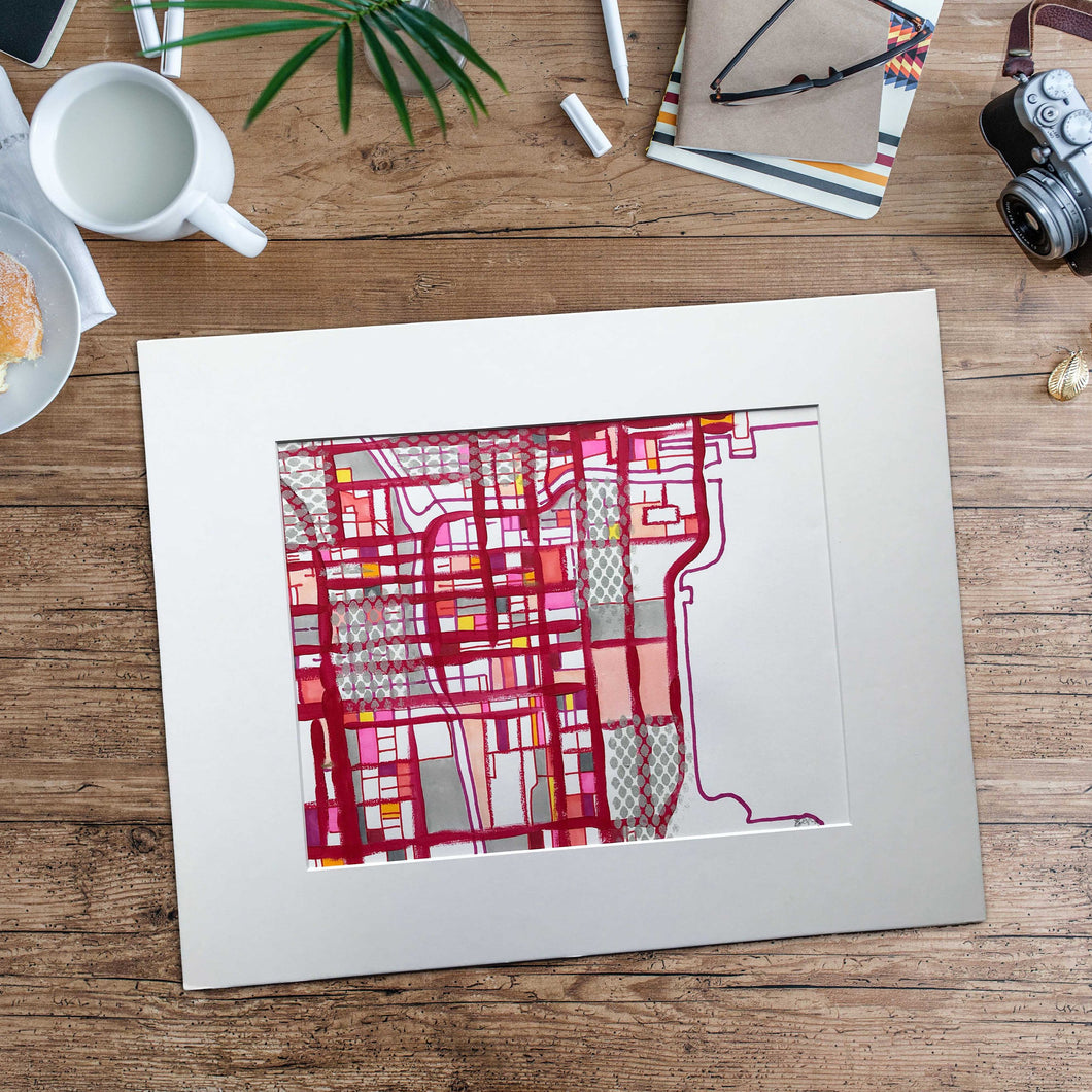 Chicago Loop (Red) - Original 16x20