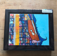 "Load image into Gallery viewer, Lincoln Park, Chicago IL - 8x10"" Framed Original Drawing On Canvas - Carland Cartography"