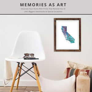CALIFORNIA State Map - Abstract City Map Art by Carland Cartography
