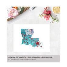 Load image into Gallery viewer, LOUISIANA State Map - Abstract City Map Art by Carland Cartography