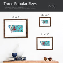 Load image into Gallery viewer, MONTANA State Map - Abstract City Map Art by Carland Cartography