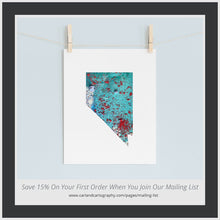 Load image into Gallery viewer, NEVADA State Map - Abstract City Map Art by Carland Cartography