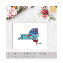 Load image into Gallery viewer, NEW YORK State Map - Abstract City Map Art by Carland Cartography