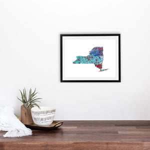 NEW YORK State Map - Abstract City Map Art by Carland Cartography