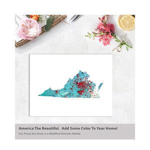 VIRGINIA State Map - Abstract City Map Art by Carland Cartography
