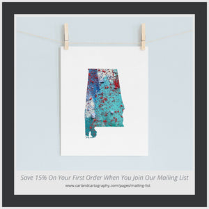 ALABAMA State Map - Abstract City Map Art by Carland Cartography