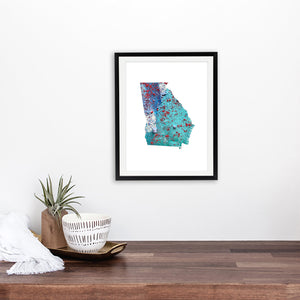 GEORGIA State Map - Abstract City Map Art by Carland Cartography