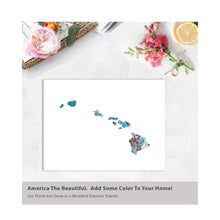 Load image into Gallery viewer, HAWAII State Map - Abstract City Map Art by Carland Cartography