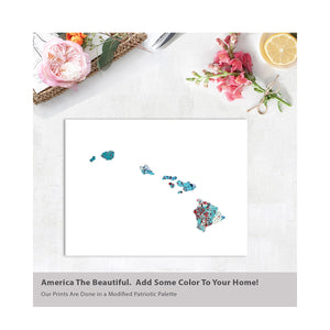 HAWAII State Map - Abstract City Map Art by Carland Cartography