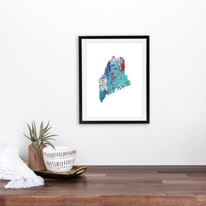 MAINE State Map - Abstract City Map Art by Carland Cartography