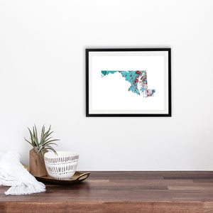 MARYLAND State Map - Abstract City Map Art by Carland Cartography