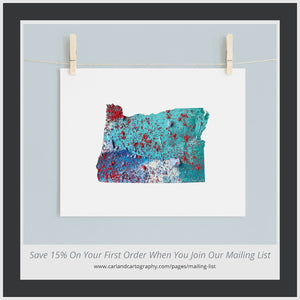 OREGON State Map - Abstract City Map Art by Carland Cartography