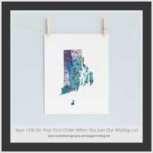Load image into Gallery viewer, RHODE ISLAND State Map - Abstract City Map Art by Carland Cartography