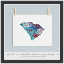 Load image into Gallery viewer, SOUTH CAROLINA State Map - Abstract City Map Art by Carland Cartography