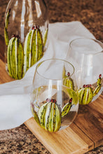Load image into Gallery viewer, Carafe d'eau et 1 duo de verres sans pied design cactus