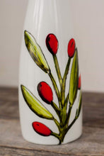 Load image into Gallery viewer, Hand-painted oil or vinegar bottle olive design