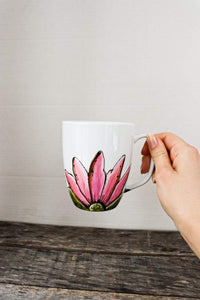 Tasse porcelaine collection fleur rose