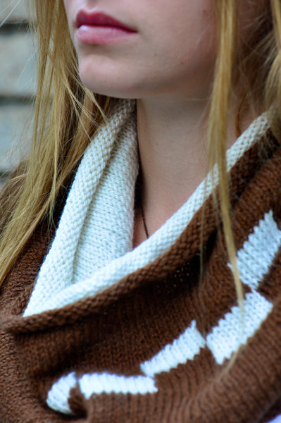 Double Knit Checkerboard Cowl