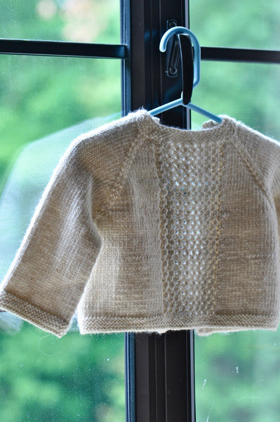 Little Lattice Open Cardigan for Babies and Toddlers