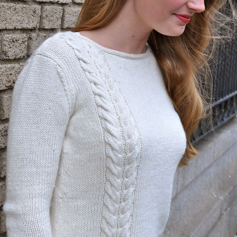 Single Cable Sweater