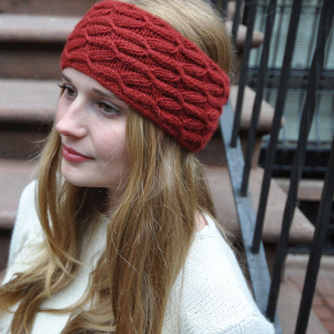 Cabled Winter Headband