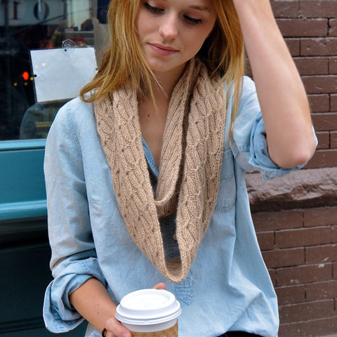 Cabled Infinity Scarf