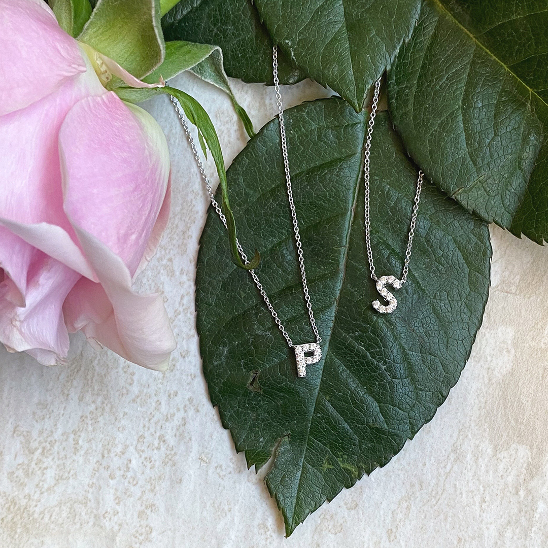 Lafonn CZ Initial Necklace in Silver