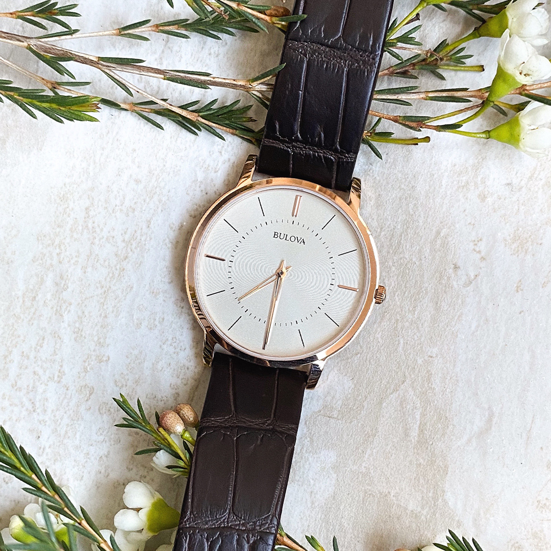 Unisex Rose Tone Watch
