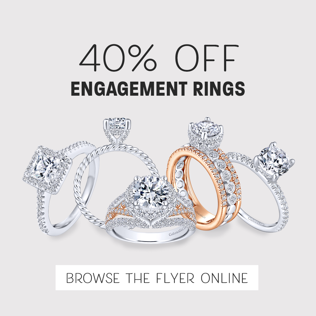40% off Engagement Rings