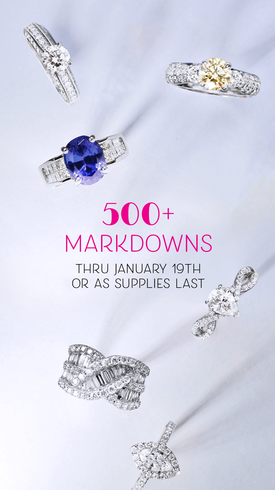 500+ Jewelry Markdowns