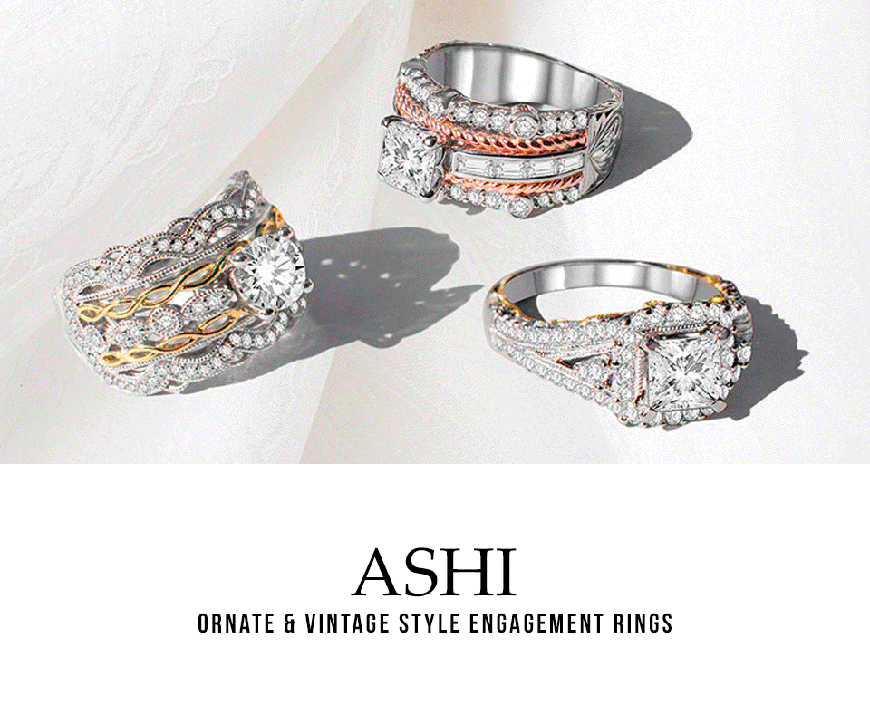 Ashi Diamonds - Women's Ornate & Vintage Style Engagement Rings