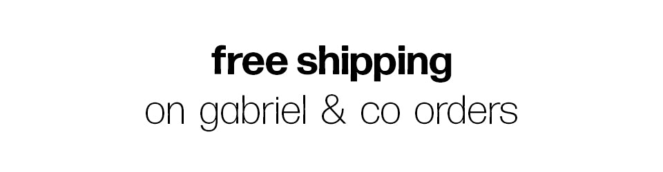 Free Shipping on Gabriel & Co Jewelry Orders