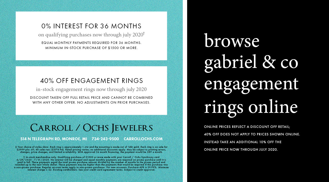 Special Financing & Engagement Ring Offer