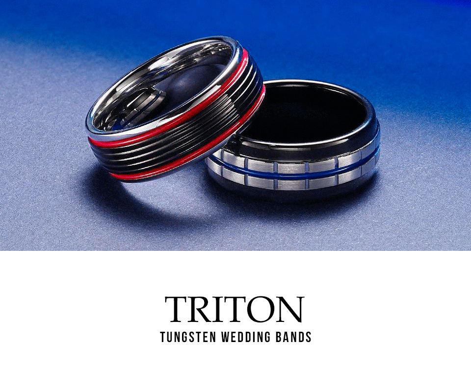 Triton - Men's Tungsten & Alternative Metal Wedding Bands