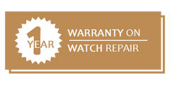1 Year Warranty on Watch Repair