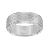 Hammered Tungsten Wedding Band